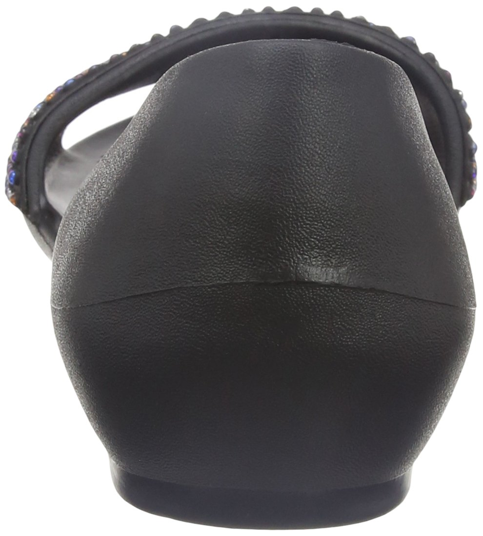 Crocs Women S Lina Embellished Dorsay Flat Sandal Black