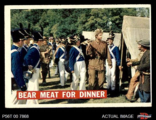 1956 Topps Davy Crockett Orange Back # 5 Bear Meat For Dinner (Card) Dean's Cards 5 - EX 2509113