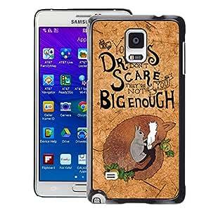 Planetar® ( Cork Koala Quote Motivational Australia ) Samsung Galaxy Note 4 IV / SM-N910 Fundas Cover Cubre Hard Case Cover