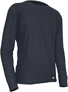 product image for Polarmax Quattro Fleece Long Sleeve Crew Neck Shirt - Men's Black XX-Small
