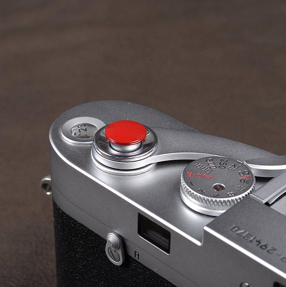 VKO Soft Metal Shutter Release Button Brass Compatible for Fujifilm X-T30 X-T3 X100F X-T20 X-PRO2 X30 X100T X100S X-T2 X-E3 RX10 II III IV Camera Black Red Dark-red Golden 11mm Concave Surface 4 Pack