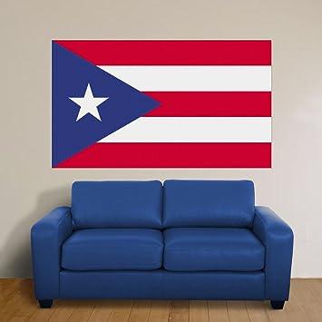 Amazoncom Jumbo Puerto Rican Flag Peel Stick Wall Mural By