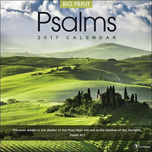 TF Publishing 171085 Wall Calendar 2017, Psalms