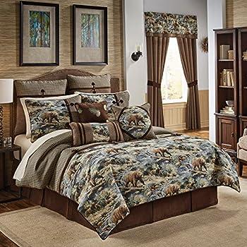 Croscill Kodiak Woven Lodge 4 Piece Comforter Set
