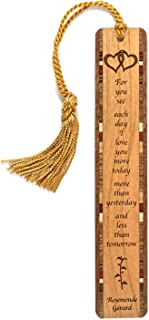 product image for Personalized Love Quote by Poet Rosemonde Gerard, Engraved Wooden Bookmark with Tassel - Search B07QKGQ4LT for Non-Personalized Version