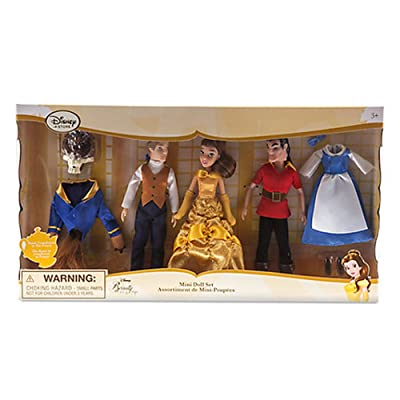 Official Disney Beauty & The Beast Mini Doll Playset: Toys & Games