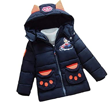 6ee86ef4437f Amazon.com  PCLOUD Cute Dog Toddler Boys Girls Winter Warm Hoodie ...