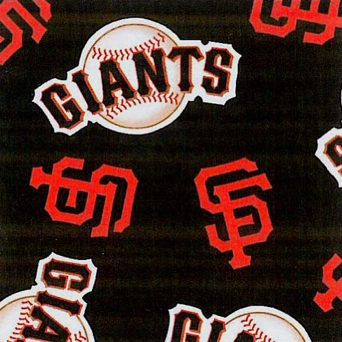Fleece San Francisco Giants Black MLB Baseball Fleece Fabric Print By the Yard s6534df