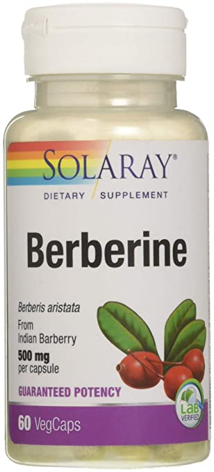 Solaray Vegan Berberine Guaranteed Potency