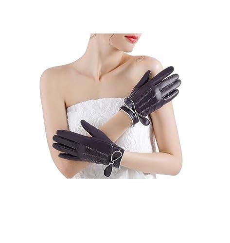 XGMSD Enviar Novia Impermeable Coreano Cálido Pantalla Táctil Juventud Señora Guantes De Algodón Oto...