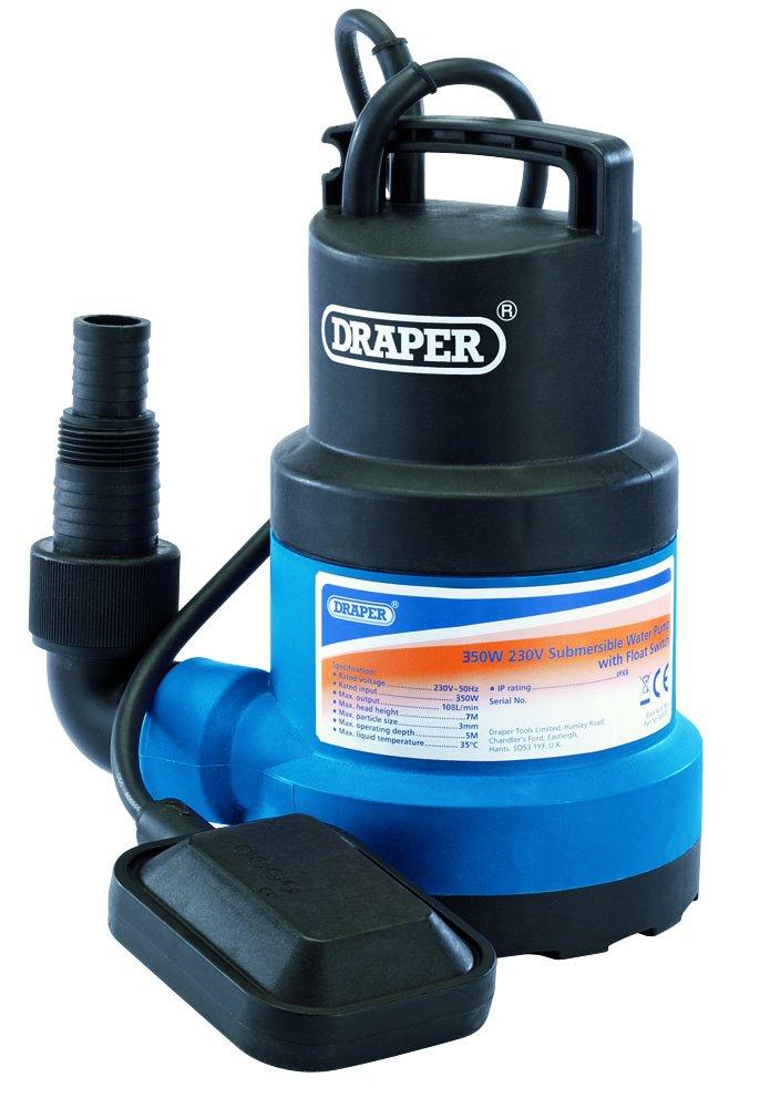 8,5 Metre para y 9960 litros hora 550 W 240 V Draper SWP170DW bomba sumergible para aguas residuales Con interruptor flotante