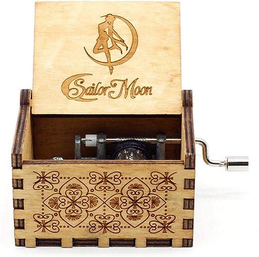 FOONEE Caja de Música con Manivela de Madera, Caja de Música ...