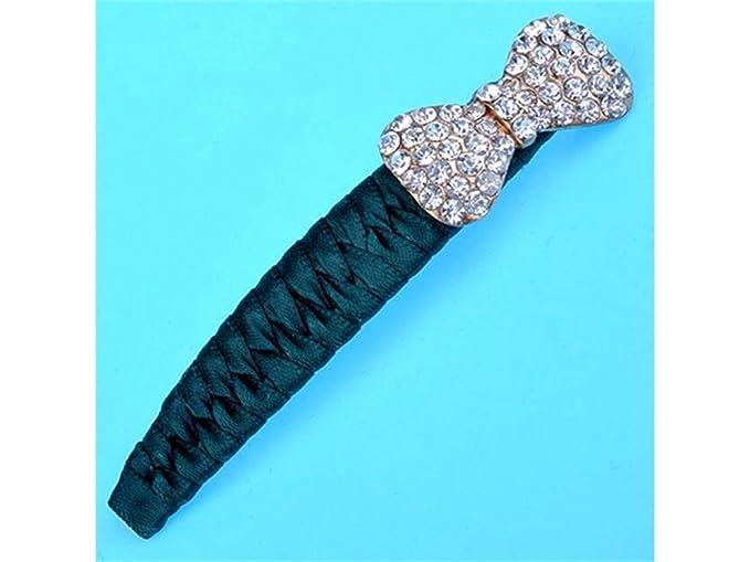 Useful Rhinestone Clip de pelo lateral horquilla lazo corbata de ...