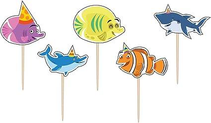 Amazon.com: Ocean Buddies Pick Set de velas (5ct): Toys & Games
