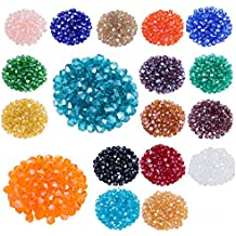 Lot 1800pcs Glass Bicone Beads - LONGWIN Wholesale 4mm Bicone Shaped Crystal Faceted Beads Jewelry Making Supply For DIY Beading Projects, Bracelets, Necklaces, Earrings & Other Jewelries(Color 2)
