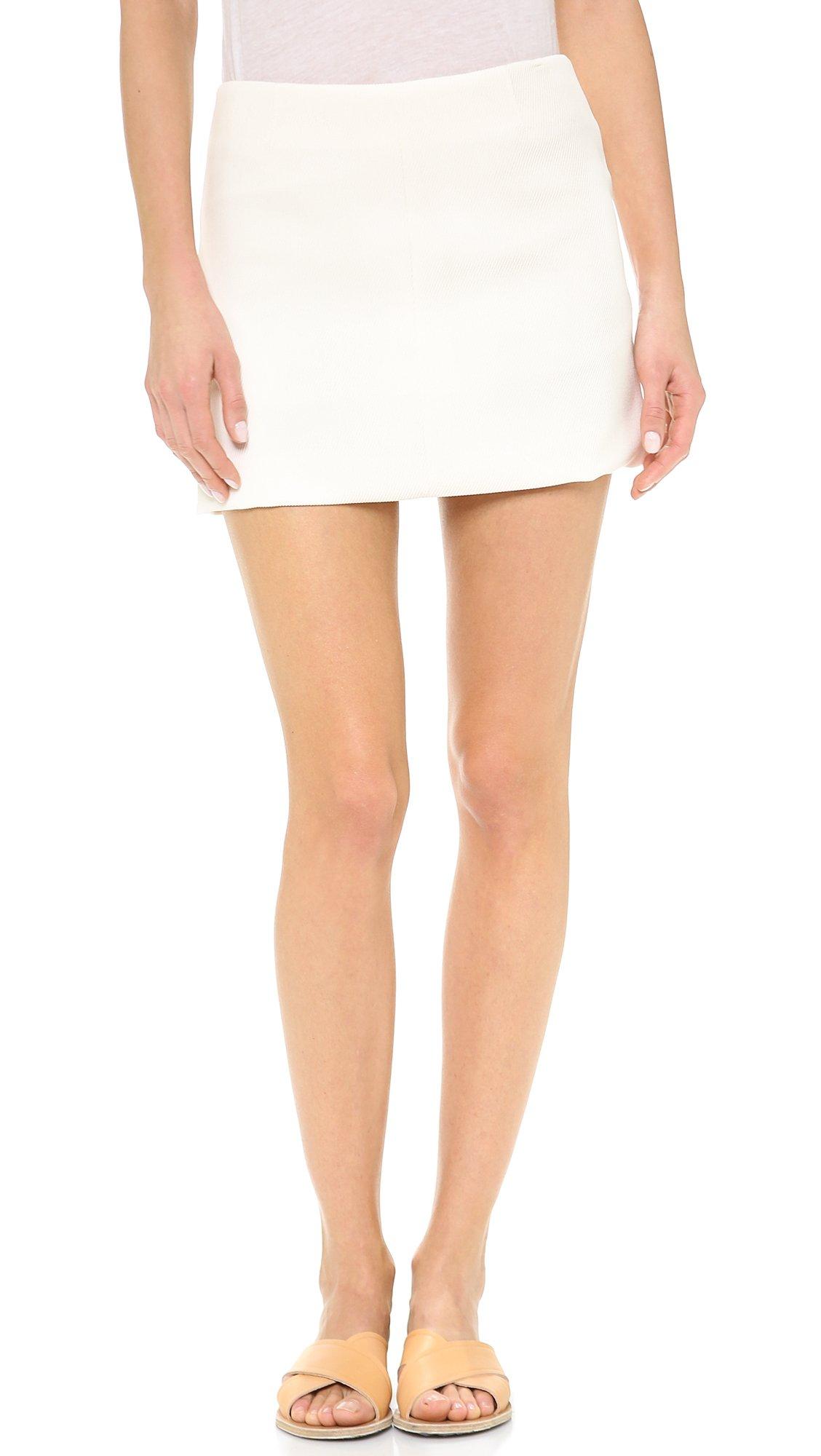 Theory Women's Tomar Keeta Skirt, Ivory, 6