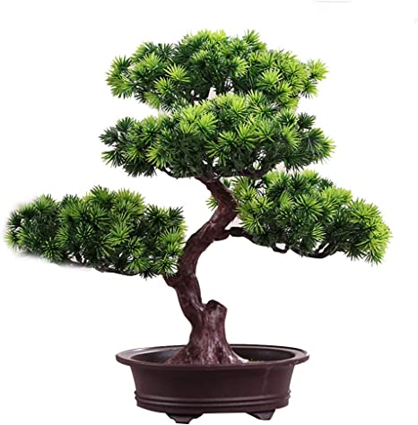 Amazon Com Yothg Artificial Bonsai Tree Fake Plant Decoration Potted Artificial House Plants Japanese Pine Bonsai Plant For Home Office Decoration Desktop Display Zen Garden Decor Type 2 Home Kitchen