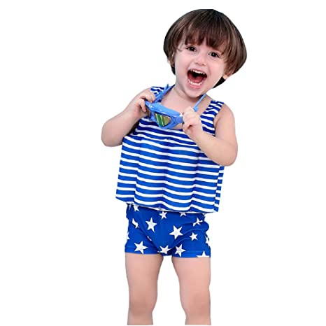 05825c4edb Peacoco Floatation Swimsuits for Kids One-Piece Float Swimwear with  Adjustable Buoyancy for 1-