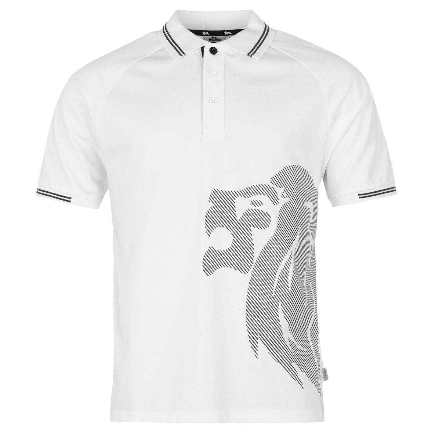 Lonsdale para Hombre, Grande León Polo T - Camiseta de Manga Corta ...