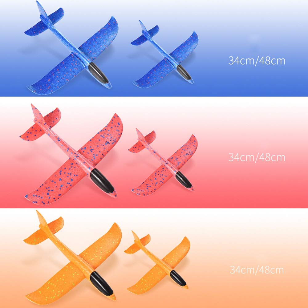 Kikioo 48CM Manual Throwing Foam Plane, Dream Airoplane Gliders, Inertia Flying Aircraft, Manual Circling Functions Flying Gifts For Kids, 3 Year Old Boy,Outdoor Sport Game Toys, Birthday Party Red by Kikioo (Image #2)