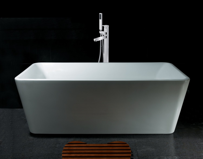 AKDY Bathroom White Color FreeStand Acrylic Bathtub And Faucet AZ ...