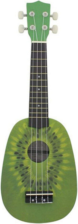 Guitarra De Madera Maciza21 Pulgadas Linda Forma De Kiwi Tallado A Mano Aptos Para Principiantes Conciertos UkelelesPara Estudiantes
