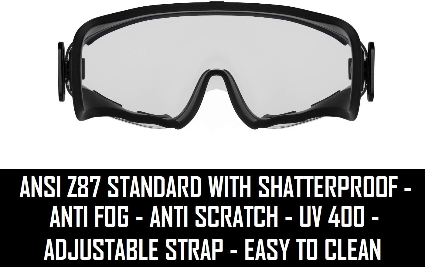 3Colours Safety Glasses Lab Work Protective Anti-fog Seal Eye Protection Goggles