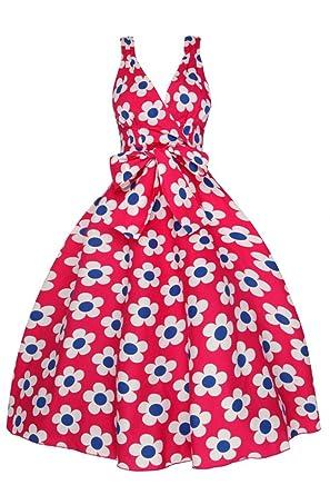 Ladies 1950s Retro Vintage Summer Swing Prom Dress - Size 12