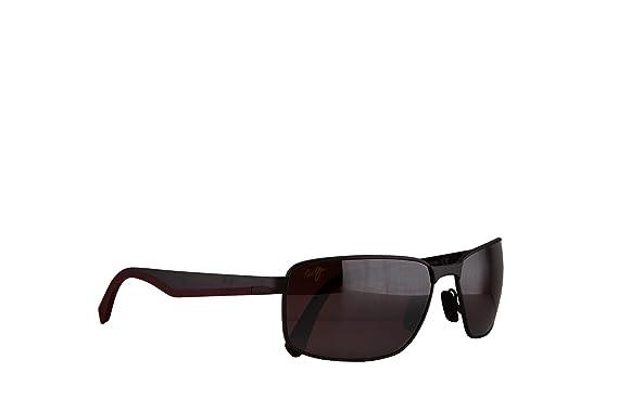 Amazon.com: Maui Jim anteojos de sol Backswing satén oscuro ...