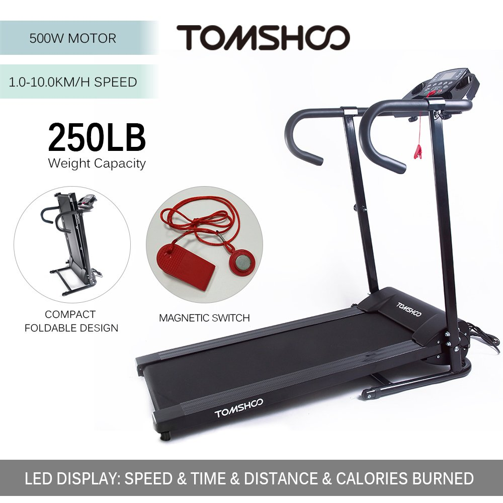 TOMSHOO 500W Cintas de Correr Motorizado Plegable: Amazon.es ...
