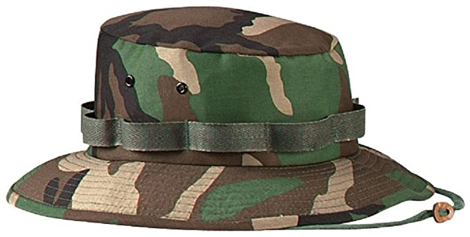 Amazon.com  Military Style Boonie Hat Bucket Hat Jungle Hat  Clothing 6d3b19a9d77
