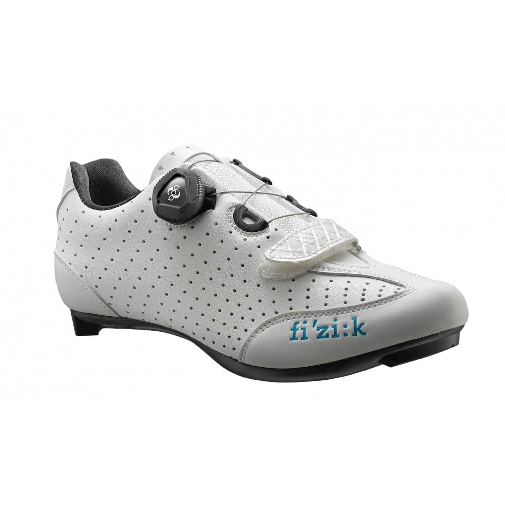 Fizik R3B Donna BOA Shoe, White/Turquoise, Size 38.5 by Fizik