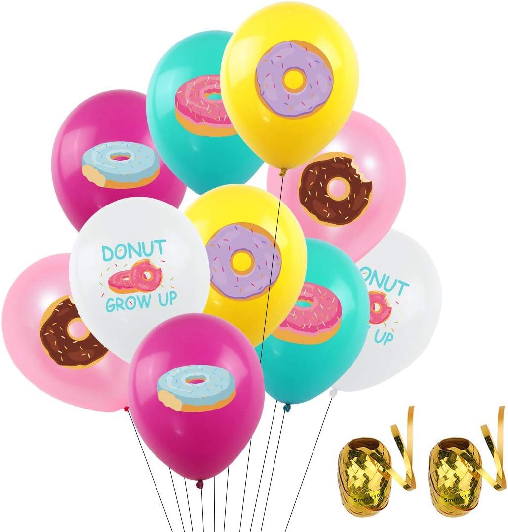 UTOPP ドーナツバルーン 50個 - ドーナツが成長するバルーン 12インチ ラテックスバルーン ドーナツテーマ 誕生日パーティーデコレーション ベビーシャワー ドーナツ 時間用品