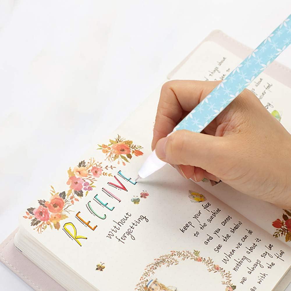 10 bol/ígrafos de gel de colores surtidos escuela arte ni/ños oficina planificador de diario,suministros de papeler/ía para ni/ñas bol/ígrafos de punta media bol/ígrafos de dibujo