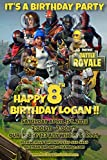 Fortnite 4x6 printed birthday party invitations with envelopes