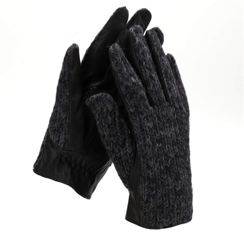 Zyyaxky Warme Handschuhe Für Herren, Herbst Und Winter, Sowie SAMT-Wollhandschuhe Mit Touchscreen