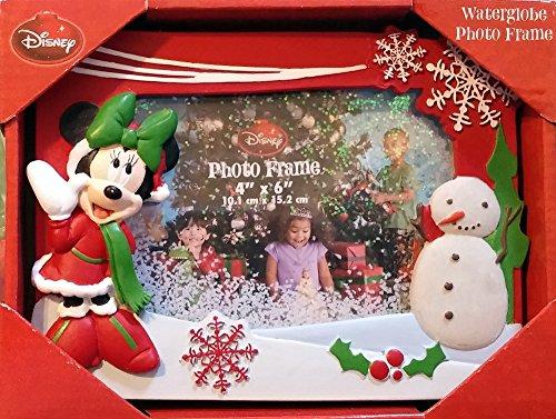 "Disney Minnie Mouse Snowman 4"" X 6"" Waterglobe Photo Frame"