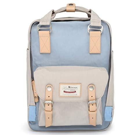 4085f3cbeb Amazon.com  Himawari School Functional Travel Waterproof Backpack Bag for  Men   Women