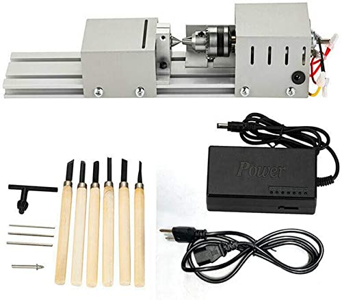 HOTSTORE Mini Lathe Beads Polisher Machine DIY Woodworking Polishing Machine Tool for Handiwork Craft DC 24V 100W