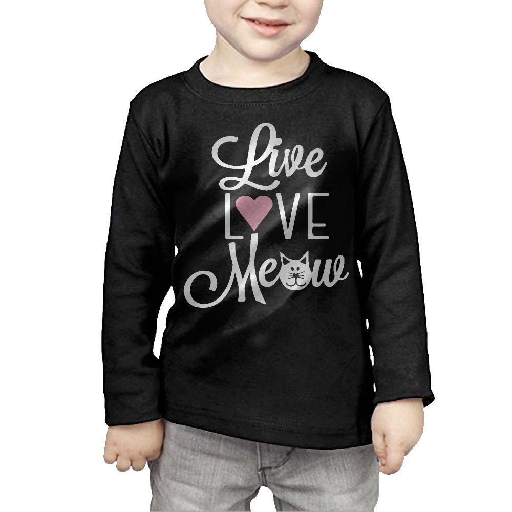 Toddler Live Love Meow Cat ComfortSoft Long Sleeve Shirt