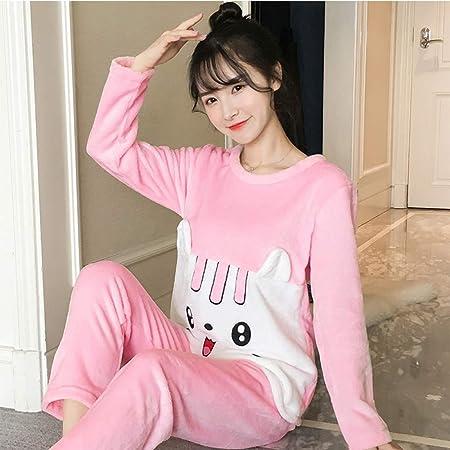 JYLW Pijamas Invierno Mujer Pijamas para Mujeres Calientes ...