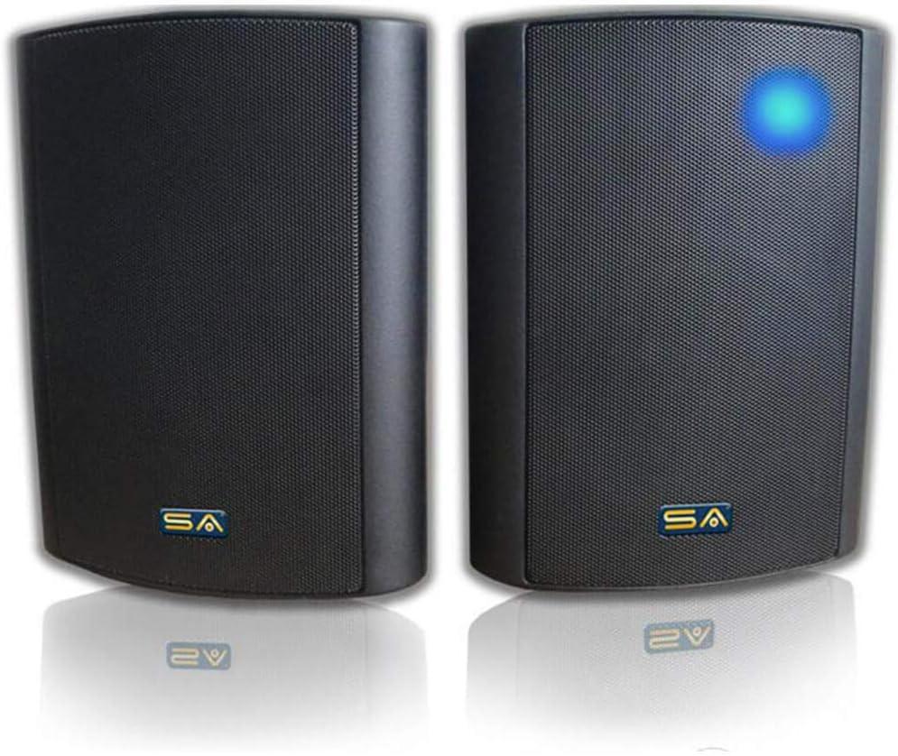 """Outdoor Wireless Speakers, 5.25"""" Bluetooth Weatherproof Speakers for Deck Patio Backyard, Pair (Black)"""