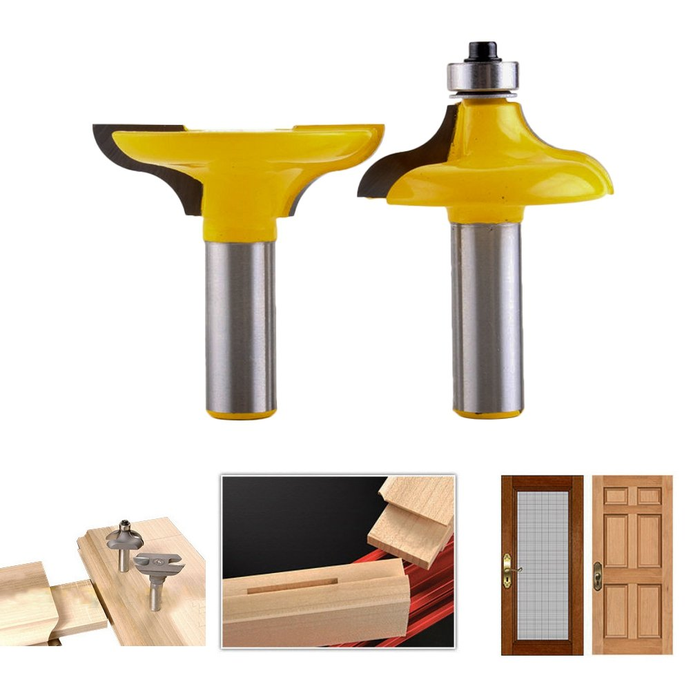 HOEN 1/2 Shank Entry Door for Long Tenons Router Bit woodworking cutter woodworking bits Tenon Cutter for Woodworking Tools