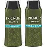 Trichup Anti- Dandruff Herbal Shampoo - Enriched with Neem, Rosemary & Tea Tree Oil - Protect Scalp Skin from Causes of Dandruff (200ml) (Pack of 2
