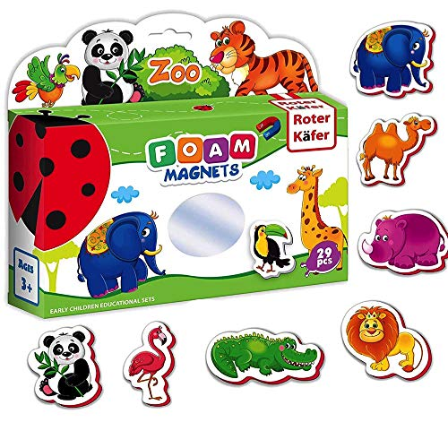 - Refrigerator Magnets for Kids ZOO Animals 29 pcs- Fridge Magnets for Toddlers- Baby magnets- Toddler Magnets- Zoo animals for toddlers- Kid magnets- Kids magnets- Toddler toys- Animals toys