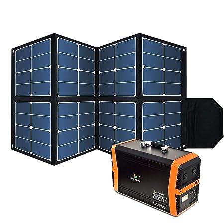 Amazon.com: Kit de panel solar plegable de 130 W, cargador ...