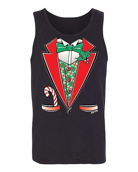 Funny Christmas Tank Tops.Amazon Com Camalen Santa Claus Funny Christmas Tuxedo Men S Tank