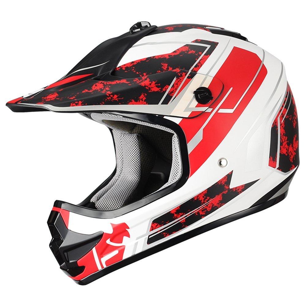 "Triangle Youth OffRoad Motorcycle Helmets ""Stain"" Sport ATV Motocross Dirt Bike [DOT] Red (Large) Jinhua Bokai Motorcycle Fitting Co. LTD TMX61-6140"
