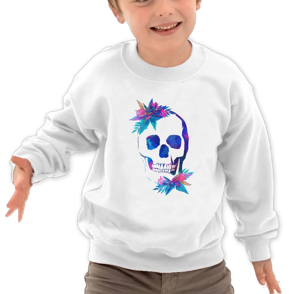 JasonMade Kids Tropical Skulls Fashion Crewneck Pullover Sweaters
