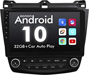 2021 Summer Newest Android 10 Double Din Car Stereo, Eonon 10.1 Inch Car Radio Compatible with 2003~2007 Accord, GPS Navigation Radio Support Split Screen/Built-in Apple Carplay/DSP -GA9476B